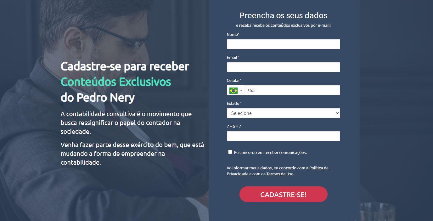 Cadastre Se E Receba Conteudos Exclusivos Pedro Nery - Gestão de Empresas Contábeis   Marco Educação